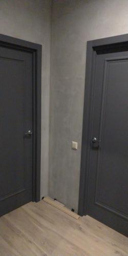 Двери в цвете тёмный бетон